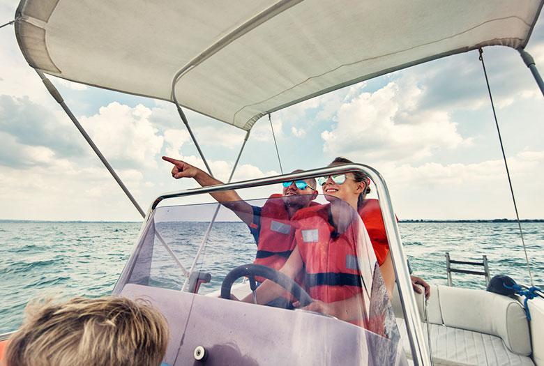 Boating at Key Largo, Florida