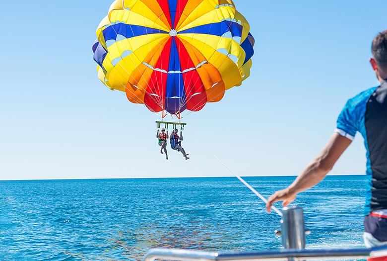 Parasailing at Key Largo, Florida
