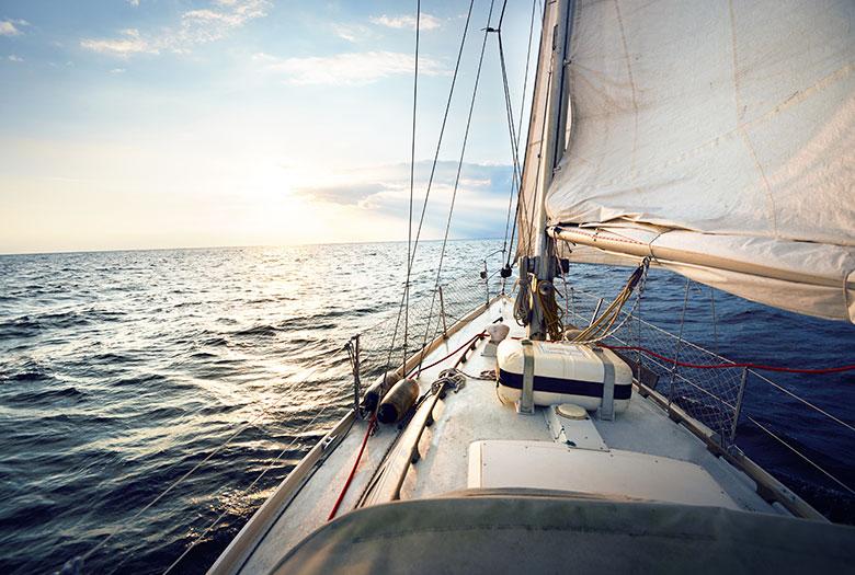 Sailing at Key Largo, Florida