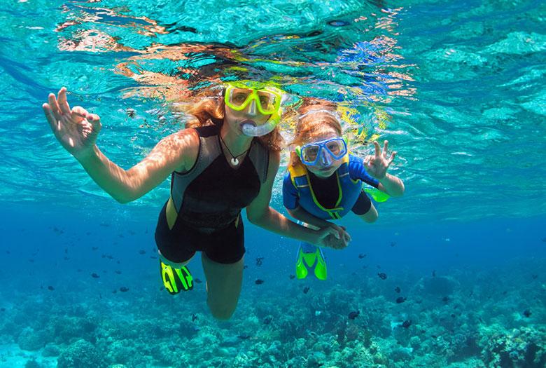 Snorkeling at Key Largo, Florida