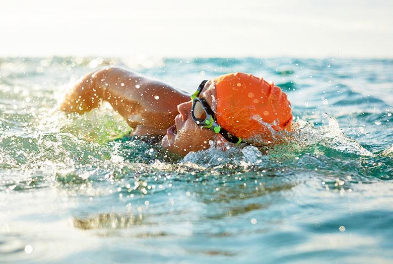 Swimming at Key Largo, Florida