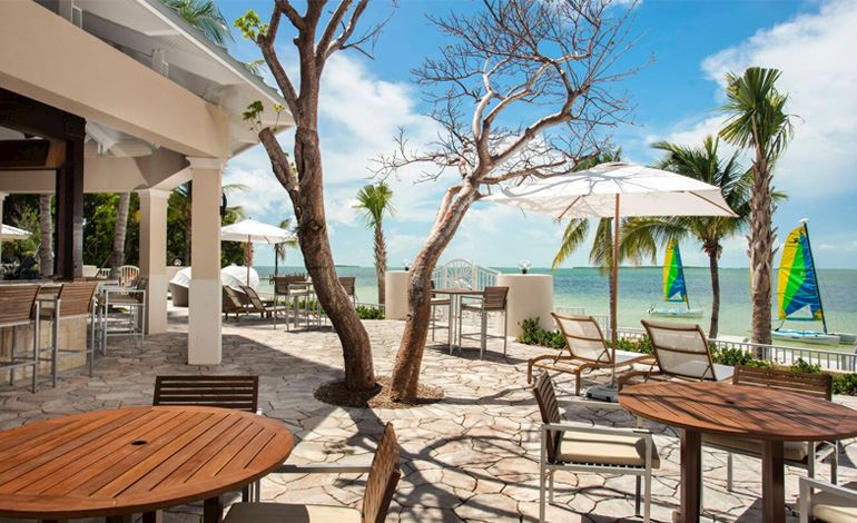 Enjoy Kid-Friendly Menu of Sand Bar at Key Largo, Florida