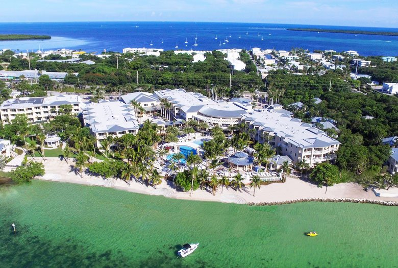 Dron Camera View of Playa Largo Resort & Spa, Autograph Collection, Key Largo, Florida