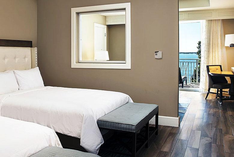 King Room Partial Bay View Balcony at laya Largo Resort & Spa, Autograph Collection, Key Largo, Florida